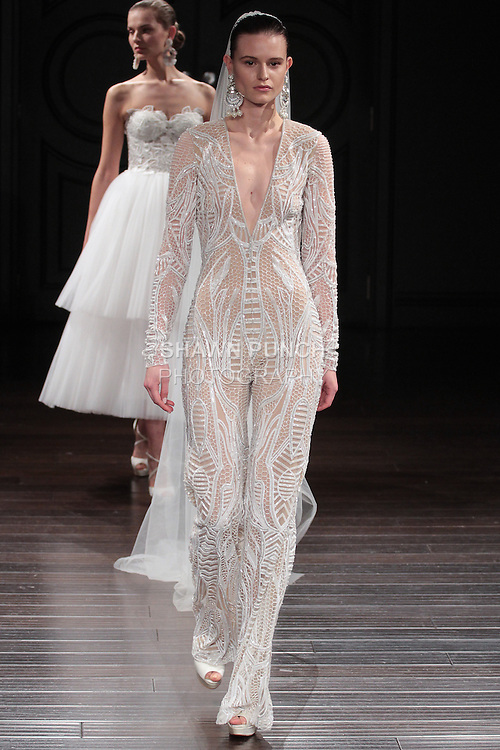 d0e483163d20d Model walks runway in a Berlin bridal gown from the Naeem Khan Bridal  Spring 2017 collection