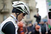 a completive World Champion Michal Kwiatkowski (POL/Ettix-Quickstep) before the start<br /> <br /> 106th Milano - San Remo 2015