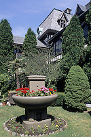 Newport, Rhode Island.Belcourt Castle on Bellevue Ave, is a Louis XIII style mansion built in 1894, by Oliver Hazard Perry Belmont in the height of Newport's golden ag