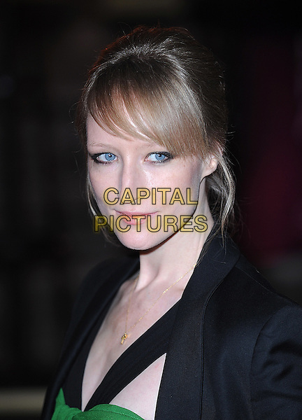 JADE PARFITT .attending The British Fashion Awards, Royal Courts of Justice, London, England, UK, 9th December 2009..arrivals portrait headshot fringe green  black.CAP/BEL.©Tom Belcher/Capital Pictures.