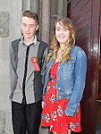 Andrew Keane from LeCheile school who was confirmed in St Mary's church pictured with sister and sponsor Aisling. Photo:Colin Bell/pressphotos.ie