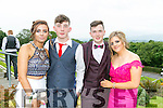 Enjoying the Colaiste Ide agus Iosef, Abbeyfeale  Debs at Ballyroe Heights Hotel on Tuesday wereL-R  Orla Greaney, Luke Dore, Denis Cronin and Denise Lane