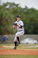 Edgewood Eagles starting pitcher Will Mossa (18) during the first game of a double header against the Bethel Wildcats on March 15, 2019 at Terry Park in Fort Myers, Florida.  Bethel defeated Edgewood 6-0.  (Mike Janes/Four Seam Images)
