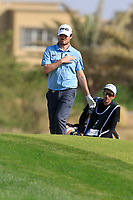Cormac Sharvin (NIR) on the 6th during the 1st round of  the Saudi International powered by Softbank Investment Advisers, Royal Greens G&CC, King Abdullah Economic City,  Saudi Arabia. 30/01/2020<br /> Picture: Golffile | Fran Caffrey<br /> <br /> <br /> All photo usage must carry mandatory copyright credit (© Golffile | Fran Caffrey)