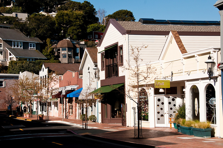 Main Street Shops, shopping, Tiburon, California, USA.  Photo copyright Lee Foster.  Photo # california108876