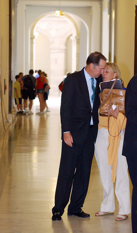 7/22/04.9/11 COMMISSION REPORT--Commission Chairman Thomas H. Kean hugs xxxx, who lost xxxxx in the Sept. 11 attacks, before a news conference in the Russell Senate Office Building on the release of the September 11 Commission report..CONGRESSIONAL QUARTERLY PHOTO BY SCOTT J. FERRELL.