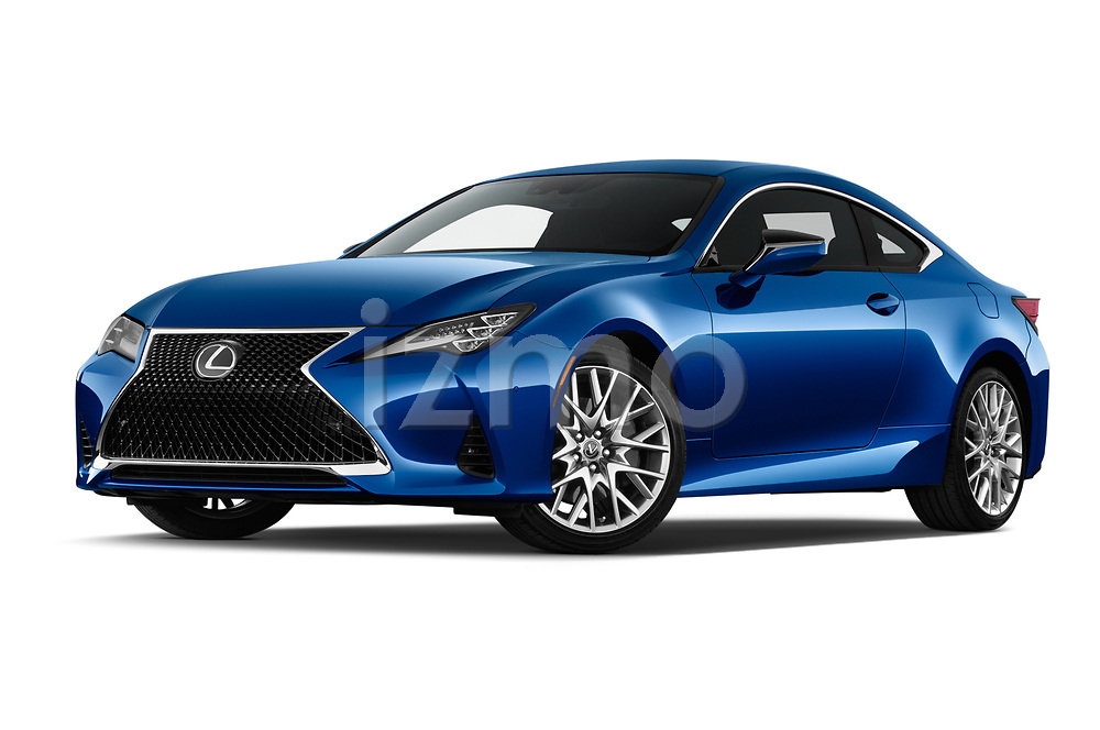 Stock pictures of low aggressive front three quarter view of a 2019 Lexus RC 350 2 Door Coupe