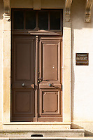 entrance door domaine parent pommard cote de beaune burgundy france