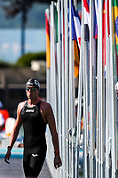 Picture by Rogan Thomson/SWpix.com - 18/07/2017 - Open Water Swimming - Fina World Championships 2017 -  Lake Balaton, Balatonfured, Hungary - Jack Burnell of Great Britain looks on during the Mens 10km Open Water Race.