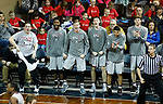SIOUX FALLS, SD - MARCH 9:  Players on the IU East bench celebrate a basket in their double-overtime win against Oklahoma Wesleyan at the 2018 NAIA DII Men's Basketball Championship at the Sanford Pentagon in Sioux Falls. (Photo by Dick Carlson/Inertia)