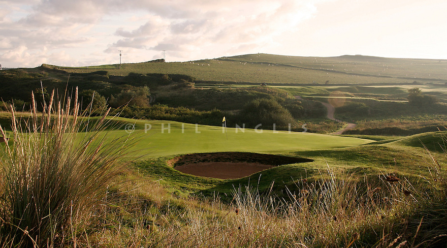 A general view of St Enodoc Golf Club. A beautiful undulating links course on the North Cornwall coast. Designed by James Braid  (Picture Credit: Phil Inglis)