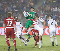 CARSON, CA – OCTOBER 24: FC Dallas goalie Dario Sala during a soccer match at the Home Depot Center, October 24, 2010 in Carson, California. Final score LA Galaxy 2, Dallas FC 1.