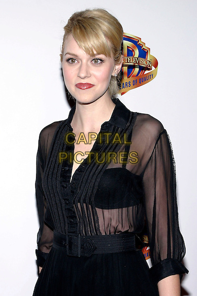 HILARIE BURTON.Warner Bros. Television And Warner Home Video Celebrate 50 Years Of Quality TV held at the Warner Brother Studios, Burbank, California, USA,.20 January 2005..half length sheer see through thru shirt bra.Ref: ADM.www.capitalpictures.com.sales@capitalpictures.com.©Jacqui Wong/AdMedia/Capital Pictures .