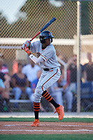 Myles Austin during the WWBA World Championship at the Roger Dean Complex on October 18, 2018 in Jupiter, Florida.  Myles Austin is a shortstop from Smyrna, Georgia who attends Westlake High School and is committed to Alabama.  (Mike Janes/Four Seam Images)