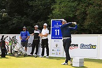 Matthew Nixon (ENG) on the 11th tee during Round 1 of the Northern Ireland Open at Galgorm Castle Golf Club, Ballymena Co. Antrim. 10/08/2017<br /> Picture: Golffile | Thos Caffrey<br /> <br /> <br /> All photo usage must carry mandatory copyright credit     (&copy; Golffile | Thos Caffrey)
