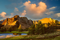 Smith Rock State Park at sunset. Oregon.
