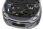 Car stock 2015 Hyundai I30 Joy 5 Door Hatchback engine high angle detail view