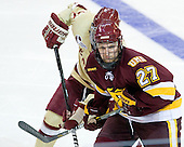 David Grun (Duluth - 27) - The Boston College Eagles defeated the University of Minnesota Duluth Bulldogs 4-0 to win the NCAA Northeast Regional on Sunday, March 25, 2012, at the DCU Center in Worcester, Massachusetts.