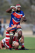 Viliame Rarasea during the Counties Manukau Premier Club Rugby Semi-final game between Ardmore Marist and Karaka, played at Bruce Pulman Park Papakura, on Saturday July 14th 2018.<br /> Ardmore Marist won the game 53 - 8 after leading 22 - 3 at halftime. <br /> Photo by Richard Spranger.