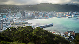 NEW ZEALAND, Wellington, Wellington Skyline and Harbour from Mount Victoria,  Ben M Thomas