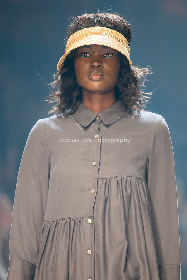 10 March 2018, Melbourne - Model showcases design by Lois Hazel during the runway 6 show presented by Who What Wear at the 2018 Virgin Australia Melbourne Fashion Festival in Melbourne, Australia. (Photo Sydney Low / asteriskimages.com)