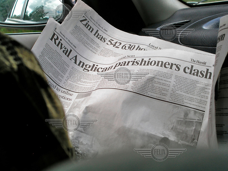 The Herald, a government owned daily newspaper, reports on clashes within the Anglican church.