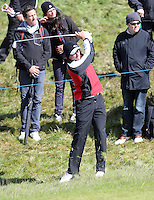 Friday 29th May 2015; Benjamin Hebert, France, plays from the rough on the 15th<br /> <br /> Dubai Duty Free Irish Open Golf Championship 2015, Round 2 County Down Golf Club, Co. Down. Picture credit: John Dickson / SPORTSFILE
