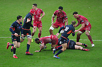 Uzair Cassiem of Scarlets in action during the Guinness Pro14 Round 11 match between the Scarlets and Edinburgh Rugby at the Parc Y Scarlets in Llanelli, Wales, UK. Saturday 15 February 2020