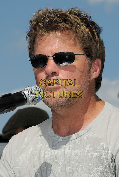 RICHIE McDONALD.2008 CMA Music Festival Greased Lightning Riverfront Daytime Stage, Nashville, Tennessee, USA, .05 June 2008..country music microphone concert gig on stage portrait headshot sunglasses.CAP/ADM/LF.©Laura Farr/Admedia/Capital PIctures