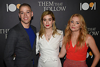 "30 July 2019 - Los Angeles, California - Dan Madison Savage, Alice Englert, Britt Poulton. ""Them That Follow"" Los Angeles Premiere held at the Landmark Theatre. Photo Credit: Billy Bennight/AdMedia"