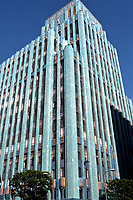 Los Angeles: Eastern Columbia Building. 849 S. Broadway, L. A., Claude Beelman 1929. Art Deco. Photo  Dec. 1987.