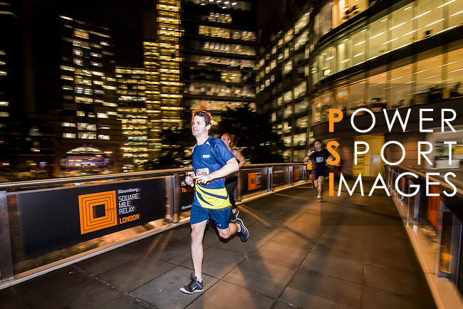 Runners compete at the Bloomberg Square Mile Relay on 21 September 2017 at Guildhall Yard in London, United Kingdom. Photo by Diego Gonzalez / Power Sport Images