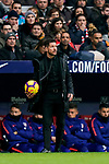 Head coach Diego Simeone of Atletico de Madrid looks on during the La Liga 2018-19 match between Atletico de Madrid and RCD Espanyol at Wanda Metropolitano on December 22 2018 in Madrid, Spain. Photo by Diego Souto / Power Sport Images