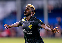 16th July 2020, Orlando, Florida, USA;  Columbus Crew forward Gyasi Zerdes (11) celebrates scoring his goal during the MLS Is Back Tournament between the Columbus Crew SC versus New York Red Bulls on July 16, 2020 at the ESPN Wide World of Sports, Orlando FL.