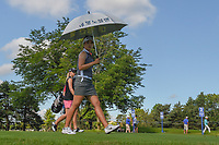 Jeong Eun Lee (KOR) and Austin Ernst (USA) head down 3 during round 1 of the 2018 KPMG Women's PGA Championship, Kemper Lakes Golf Club, at Kildeer, Illinois, USA. 6/28/2018.<br /> Picture: Golffile | Ken Murray<br /> <br /> All photo usage must carry mandatory copyright credit (&copy; Golffile | Ken Murray)