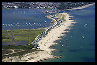 BNPS.co.uk (01202 558833)<br /> Pic: RoyKilcullen/BNPS<br /> <br /> ***Please use full byline***<br /> <br /> Mudeford Spit, where the train runs to. <br /> <br /> The train carries passengers from the car park to the middle of Mudeford Spit, a pedestrian-only promontary to the east of Hengistbury Head. <br /> <br /> There was outrage today after a family that has run one of Britain's first 'Noddy' land trains for 46 years were served with a notice to quit the service.<br /> <br /> The much-loved novelty train that carries people to a remote beach was started in 1968 by the late Roger Faris, who hand-built the carriages himself.<br /> <br /> Since his death 34 years ago his widow Joyce, 88, has operated the independent service for 364 days a year and runs it more as a hobby than a profitable business.<br /> <br /> The little train has been used by generations of people and become a popular fixture at the Hengistbury Head beauty spot in Dorset.<br /> <br /> Now after five decades of service, town hall officials have told Mrs Faris they will not be renewing their contract with her as they intend to operate their own train service.