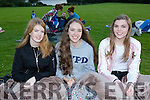 Emma Kennelly, Katie O'Reilly and Fiona Kissane at the Kerry Film Festival Open air movie in Muckross house gardens on Friday night