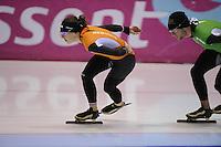 SCHAATSEN: HEERENVEEN: 31-01-2014,  IJsstadion Thialf, Training Topsport, Ireen Wust, Freddy Wennemars, ©foto Martin de Jong