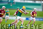 John Buckley Kerry in action against John Gilligan Westmeath in the Allianz Hurling League 2A at Austin Stack Park on Sunday.