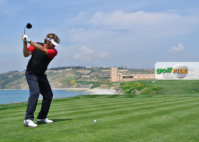 Jose Manuel Lara (ESP) on the 9th tee on Day 2 of the 2012 Sicilian Open at Verdura Golf and Spa Resort, Sicily, Italy...(Photo Jenny Matthews/www.golffile.ie)