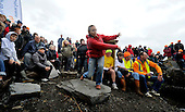 a lady competitor - at the World Stone Skimming Championships which attracted over 300 entries from all round the world - Easdale is reached by a small open ferry-boat from the Isle of Seil - south of Oban - picture by Donald MacLeod - 25.9.11 - clanmacleod@btinternet.com 07702 319 738 donald-macleod.com