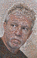 Mosaic portrait of freelance photographer Brian Cleary made up of hundreds of pictures of himself, his wife and his 3 children.  Mosaic portrait of freelance photographer Brian Cleary made up of hundreds of pictures of himself, his wife and his 3 children.(Photo by Brian Cleary/www.bcpix.com)