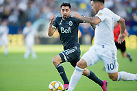CARSON, CA - SEPTEMBER 29:  during a game between Vancouver Whitecaps and Los Angeles Galaxy at Dignity Health Sports Park on September 29, 2019 in Carson, California.