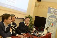 Roma, 18 Giugno 2013<br /> Hotel Nazionale<br /> Nasce &quot;L'esercito di Silvio&quot;, presentazione del movimento politico in difesa di Silvio Berlusconi fondato da Simone Furlan.<br /> A destra della foto Furlan