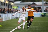 Matt Buse of Torquay United tries to shake off a challenge from Maidstone's Noah Chesmain during Maidstone United vs Torquay United, Emirates FA Cup Football at the Gallagher Stadium on 9th November 2019