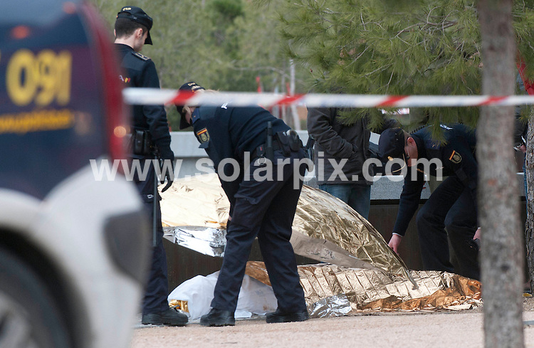 **ALL ROUND PICTURES FROM SOLARPIX.COM**                                             **WORLDWIDE SYNDICATION RIGHTS EXCEPT SPAIN & SOUTH AMERICA - NO SYNDICATION IN SPAIN OR SOUTH AMERICA**                                                                                  Caption:The body of the American student Austin Taylor Bice who was reported missing over one week ago. His body was found submerged on the banks of the river Manzanares in Madrid Spain today.His body was recovered by the Spanish fire services this morning.                                                                               This pic: Austin Taylor Bice body                                                                                             JOB REF: 12937       MPA       DATE: 08.03.2011                                                           **MUST CREDIT SOLARPIX.COM OR DOUBLE FEE WILL BE CHARGED**                                                                      **MUST AGREE FEE BEFORE ONLINE USAGE**                               **CALL US ON: +34 952 811 768 or LOW RATE FROM UK 0844 617 7637**