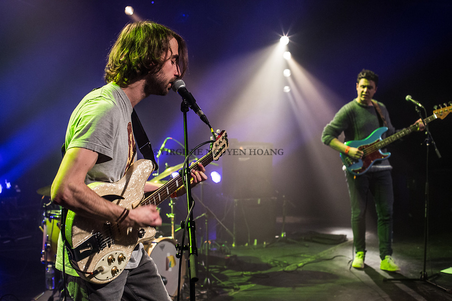 Brussels, Belgium: The Belgian group Juan Moan is performing at the Botanique for the Belgian music festival Propulse, February 2018.