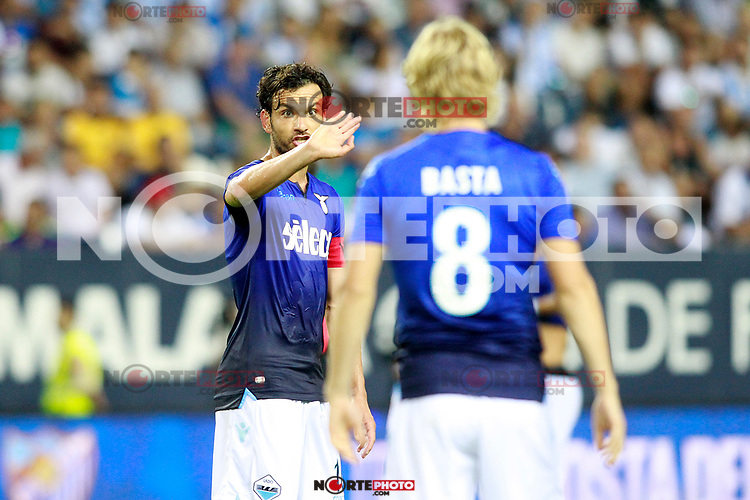 SS Lazio's Marco Parolo (l) and Dusan Basta during XXXIII Costa del Sol Trophy. August 5,2017. (ALTERPHOTOS/Acero) /NortePhoto.com