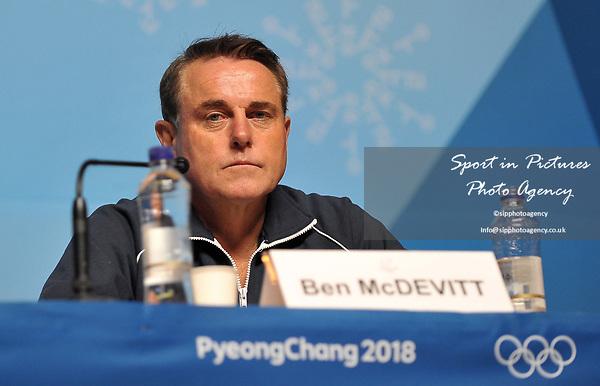 Ben McDevitt (IO Team Chair, WADA). World Anti Doping WADA press conference. Pyeongchang room. Main Press Centre (MPC). Pyeongchang2018 winter Olympics. Alpensia. Pyeongchang. Republic of Korea. 08/02/2018. ~ MANDATORY CREDIT Garry Bowden/SIPPA - NO UNAUTHORISED USE - +44 7837 394578
