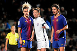 Spanish Women's Football League Iberdrola 2017/18 - Game: 9.<br /> FC Barcelona vs Madrid CFF: 7-0.<br /> Mapi Leon, Ona Batlle &amp; Marta Torrejon.